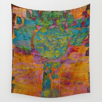 virgo Wall Tapestries featuring Virgo by Fernando Vieira
