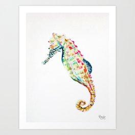 Seahorse / FLOAT Art Print