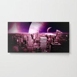 New New York : Galaxy City Metal Print