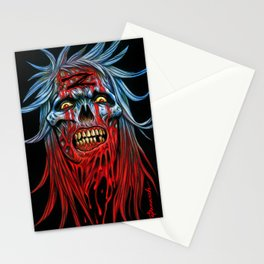"Zombie - Blue ""Z"" Head Stationery Cards"
