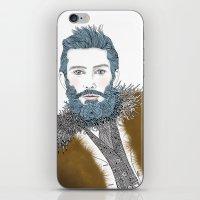 beard iPhone & iPod Skins featuring beard by katiwo