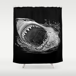 Shark Painting 2 Shower Curtain