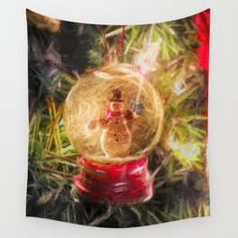 Snow Globe Ornament Wall Tapestry
