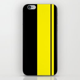 Yellow Racing Stripe Berlin Style iPhone Skin