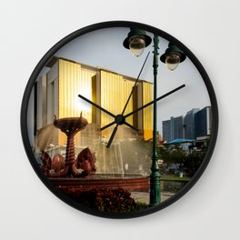 Naga Fountain Wall Clock