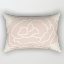 Rose Vintage Pink on Petal Cream Rectangular Pillow