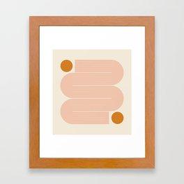 Abstraction_SUN_LINE_ART_Minimalism_002 Framed Art Print