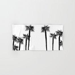 Minimal Black & White Palms #1 #tropical #decor #art #society6 Hand & Bath Towel