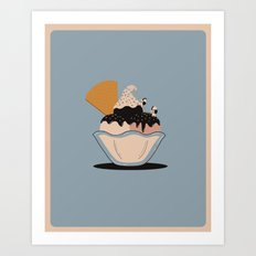 Climbing the Rocky Road Art Print