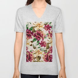 Vintage flowers1 Unisex V-Neck