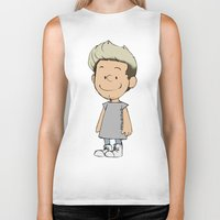 niall Biker Tanks featuring Schulz Niall by Ashley R. Guillory