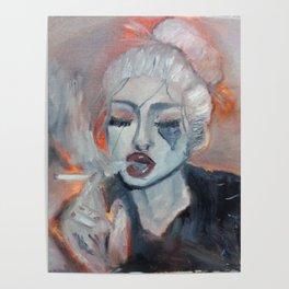 smoking ballerina Poster