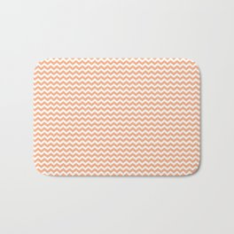 Chevron Orange Bath Mat