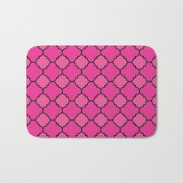 Quatrefoil - Pink & Black Bath Mat