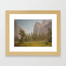 Albert Bierstadt - Bridal Veil Falls, Yosemite Valley, California (1872) Framed Art Print