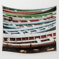 boats Wall Tapestries featuring Boats by BTP Designs