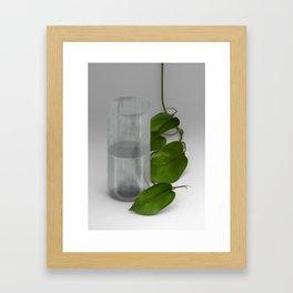 Glass-Half-Full Framed Art Print