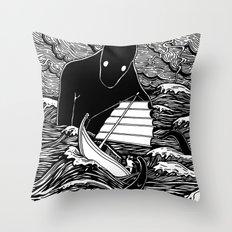 Umibōzu 海坊主 Throw Pillow