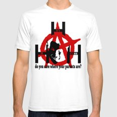 Mark Hunter: Anarchist Mens Fitted Tee White MEDIUM