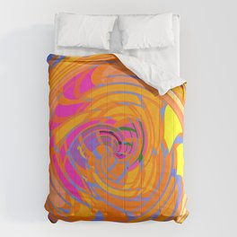 Wind Tunnel in Orange Comforters