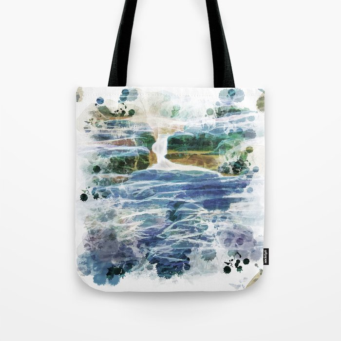 Abstract rock pool in the rough rocks Tote Bag
