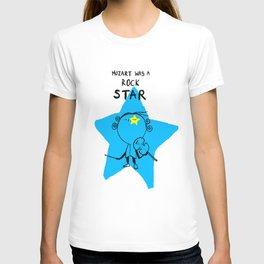 MOZART WAS A ROCK STAR (PINK) T-shirt