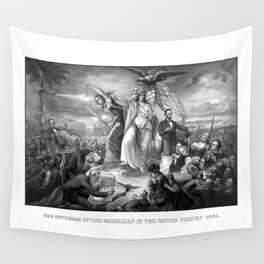 The Outbreak Of Rebellion In The United States 1861 Wall Tapestry