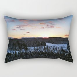 Algonquin Winter Sunset Rectangular Pillow