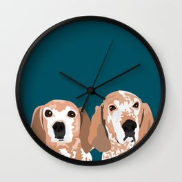 Molly and  Elwood Wall Clock