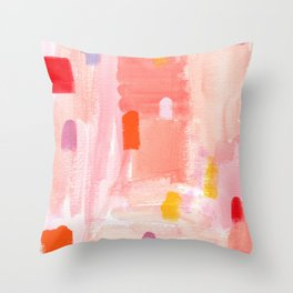 Put Sorrows In A Jar - abstract modern art minimal painting nursery Throw Pillow
