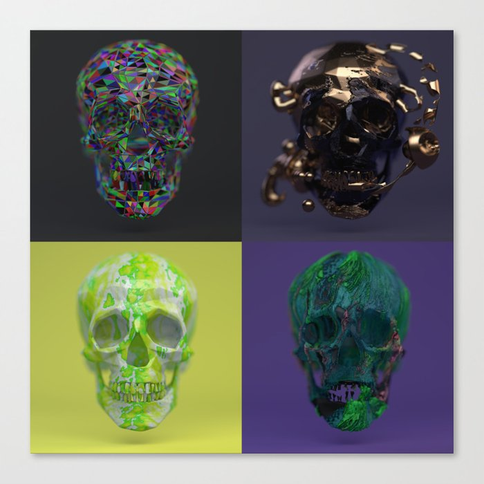 Skull Collection 01 Canvas Print