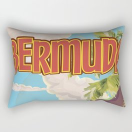 BERMUDA vintage vacation travel poster Rectangular Pillow
