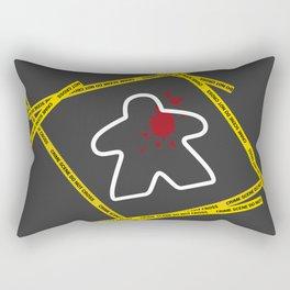 Dead Meeple Crime Scene Rectangular Pillow