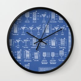 COCKTAILS poster Wall Clock