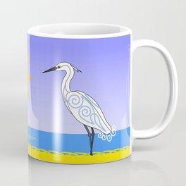 Egrets at the beach Coffee Mug