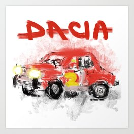 dacia 1300 Art Print