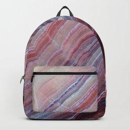 Purple & Pink Striped Agate Geode Quartz Slab Backpack