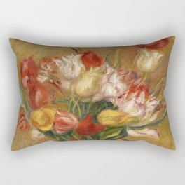 "Auguste Renoir ""Tulipes (Tulips)"" Rectangular Pillow"