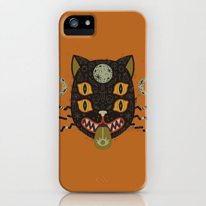 Spooky Cat iPhone Case