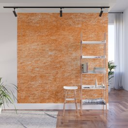 Neon Orange Textured Metallic Foil Wall Mural