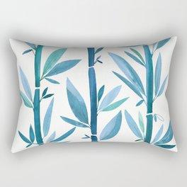 Blue Bamboo Rectangular Pillow