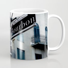Dumaine and Bourbon - Street Sign in New Orleans French Quarter Coffee Mug