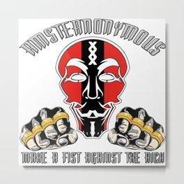 Amsternonymous Fist Metal Print
