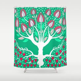 Love Grows Forever - Emerald Green Shower Curtain