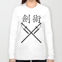 sword Long Sleeve T-shirts featuring China Sword by Littlebell