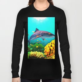Shark in the water Long Sleeve T-shirt