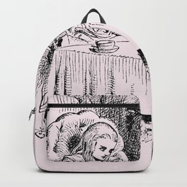 Blush pink - mad hatter's tea party Backpack