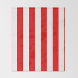 Holidaze Stripe Red White Vertical Throw Blanket
