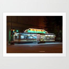 Mickey's Diner Art Print