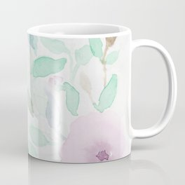 Pink and Mint Flowery Watercolor design Coffee Mug
